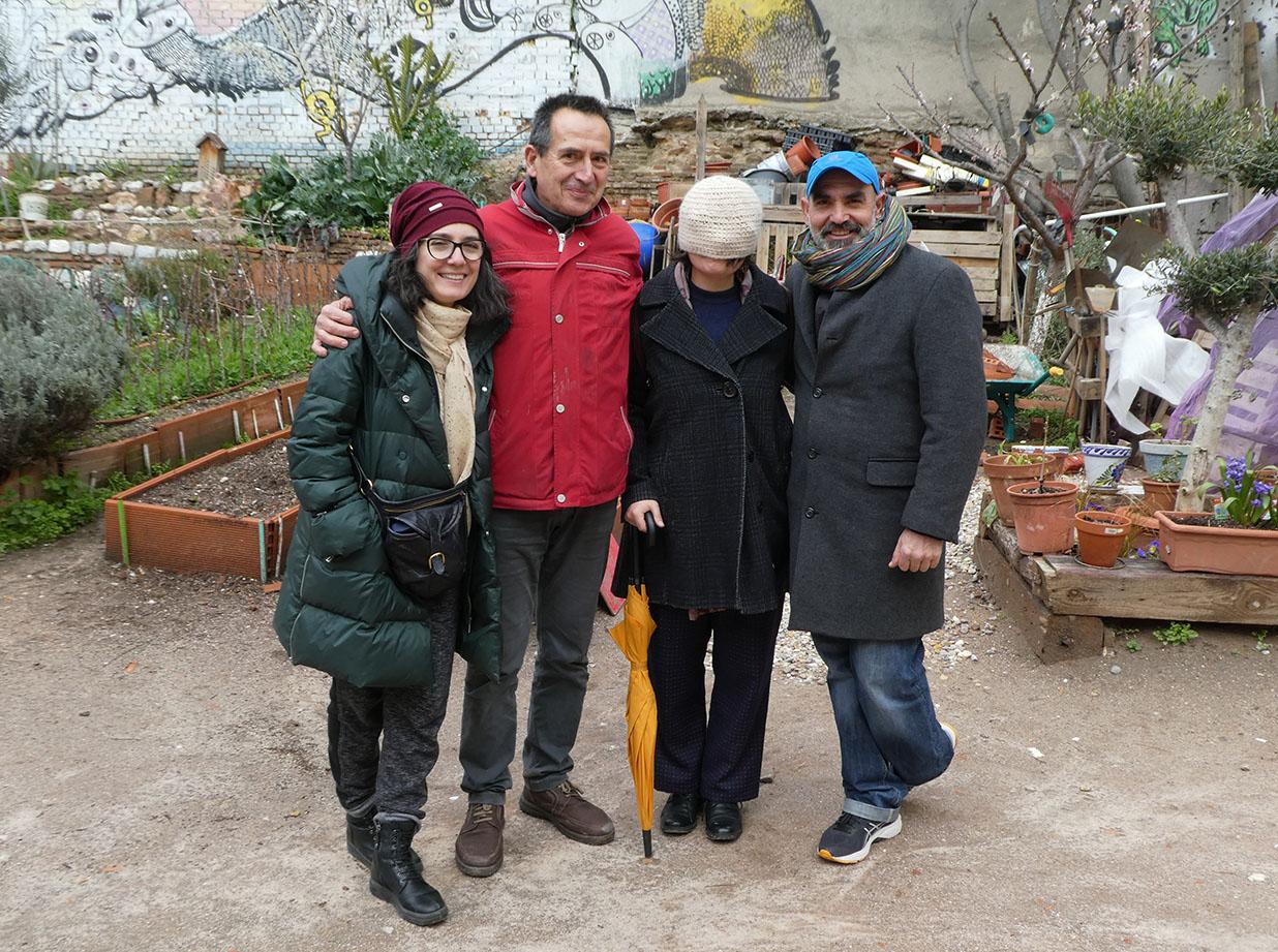 Caroline Carrubba (Radio Hortelana), Luis Elorriaga (Esta es Una Plaza), Elena Arroyo (Radio Hortelana) and Daniel Sigler (La Cabaña de Retiro)!